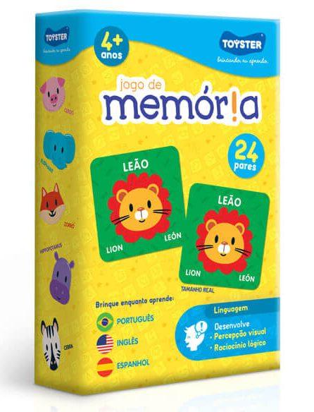 Jogo educativo da memória em inglês