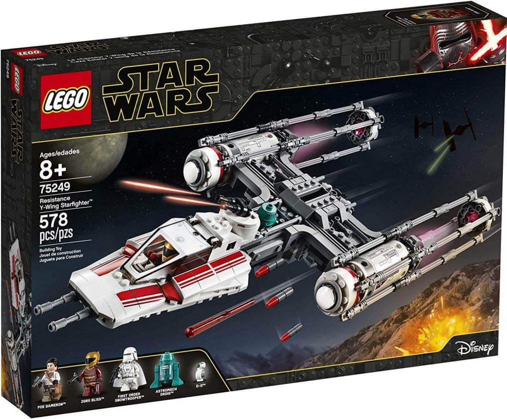 LEGO Star Wars - Y-wing Starfighter Resistência com 578 peços para crianças acima de 8 anos