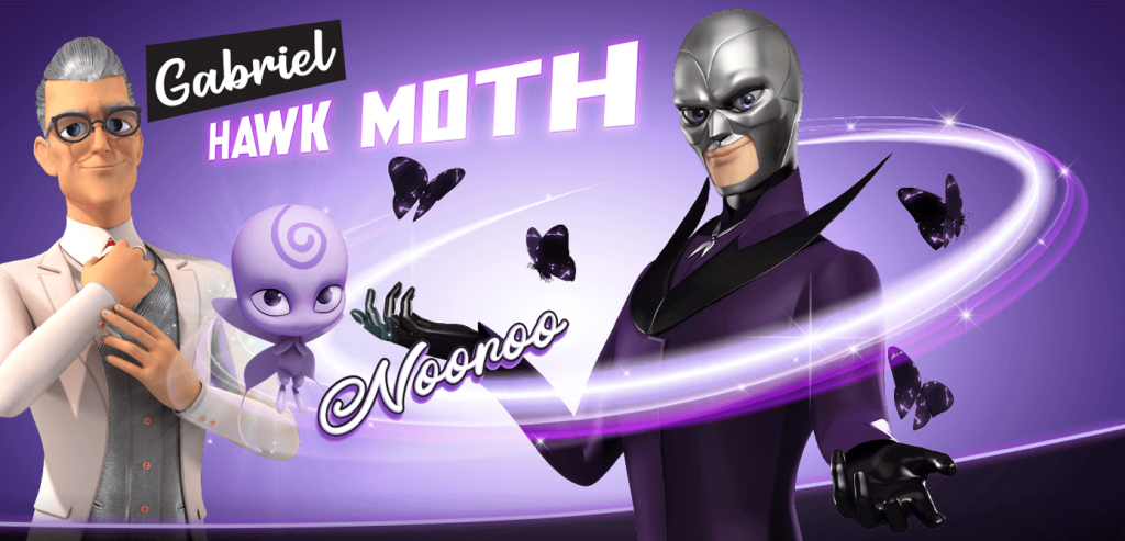 hawk moth - personagens de ladybug