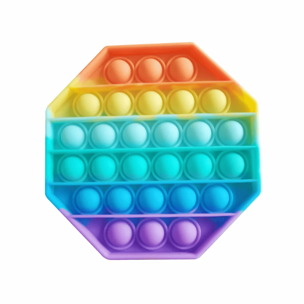 Pop It Colorido - Fura Bolha Divertido - Arco-íris