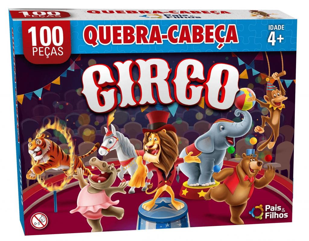 Quebra-cabeça Circo - quebra-cabeça infantil