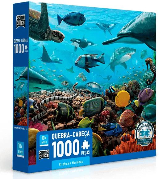 Quebra-cabeça 1000 peças Criaturas Marinhas
